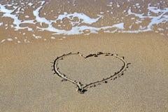 Corazón en la playa en Las Palmas de Gran Canaria imágenes de archivo libres de regalías