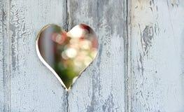 Corazón en la puerta Imágenes de archivo libres de regalías
