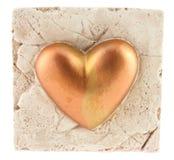 Corazón en la roca Foto de archivo libre de regalías