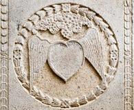 Corazón en las alas fotos de archivo