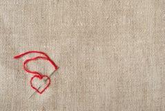 Corazón en lona Fotografía de archivo libre de regalías