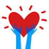 Corazón en manos Imágenes de archivo libres de regalías