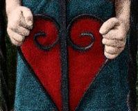 Corazón en manos Stock de ilustración