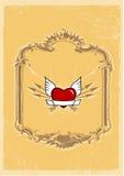 Corazón en marco. Fotografía de archivo libre de regalías