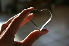 Corazón en mi mano Imágenes de archivo libres de regalías