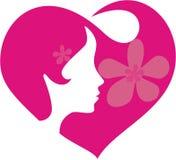 Corazón en pelo del te Foto de archivo libre de regalías