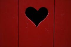 Corazón en puerta Fotografía de archivo libre de regalías