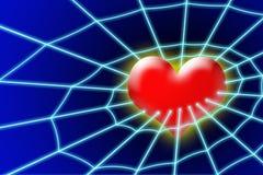 Corazón en red Imágenes de archivo libres de regalías