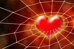 Corazón en red Fotografía de archivo