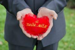 Corazón en sus manos Foto de archivo libre de regalías