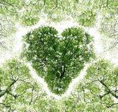 Corazón en un cielo del fondo Imagenes de archivo