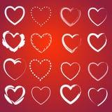 Corazón en un rojo Imagenes de archivo