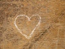 Corazón en un wakk fotos de archivo