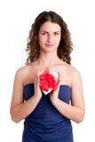 Corazón en una caja Imágenes de archivo libres de regalías