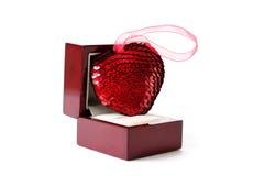 Corazón en una caja Fotos de archivo