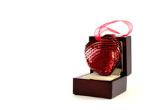 Corazón en una caja Imagen de archivo libre de regalías