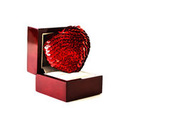Corazón en una caja Fotografía de archivo libre de regalías