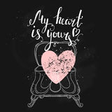 Corazón en una caja Foto de archivo libre de regalías