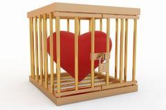 Corazón en una jaula Imagenes de archivo