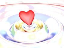 Corazón en una onda Foto de archivo libre de regalías