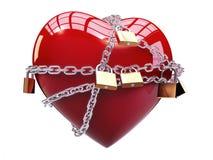 Corazón encadenado Imagenes de archivo