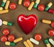 Corazón enfermo Fotos de archivo