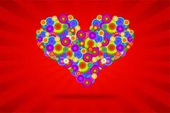 Corazón enrrollado Imágenes de archivo libres de regalías