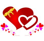 Corazón envuelto cinta Imagen de archivo libre de regalías