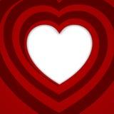 Corazón espiral rojo - ejemplo del vector. Imagen de archivo libre de regalías