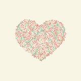 Corazón estilizado para el día de San Valentín Imagen de archivo libre de regalías