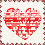 Corazón extraño. Fotografía de archivo libre de regalías