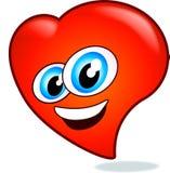 Corazón feliz de la tarjeta del día de San Valentín Imágenes de archivo libres de regalías