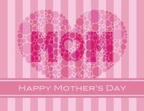 Corazón feliz de los lunares del día de madres ilustración del vector
