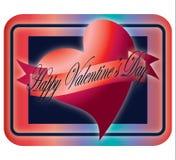 Corazón feliz del día de tarjeta del día de San Valentín imágenes de archivo libres de regalías