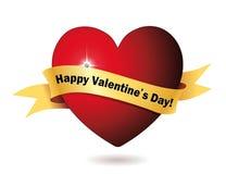 Corazón feliz del día de tarjeta del día de San Valentín Fotos de archivo libres de regalías