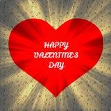 Corazón feliz del día de tarjetas del día de San Valentín Fotografía de archivo libre de regalías