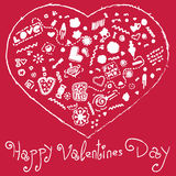 Corazón feliz del día de tarjetas del día de San Valentín foto de archivo libre de regalías