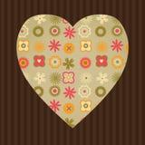Corazón floral Foto de archivo