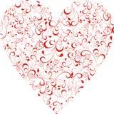 Corazón floral Fotografía de archivo