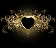 Corazón floral Imagenes de archivo