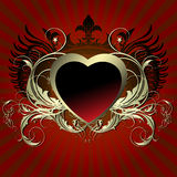 Corazón floral Imagen de archivo