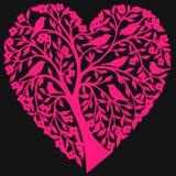 Corazón floral abstracto Fotos de archivo