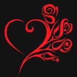 Corazón floral abstracto Imágenes de archivo libres de regalías