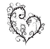 Corazón floral del vector Fotografía de archivo