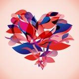 Corazón floral del vector Fotos de archivo