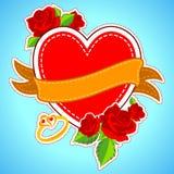 Corazón floral en el fondo feliz del día de tarjeta del día de San Valentín ilustración del vector