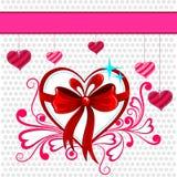 Corazón floral en el fondo feliz del día de tarjeta del día de San Valentín stock de ilustración