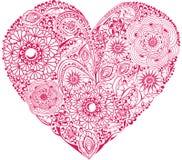 Corazón floral rojo libre illustration