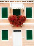 Corazón floral rojo grande Foto de archivo