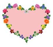 Corazón floral rosado ilustración del vector